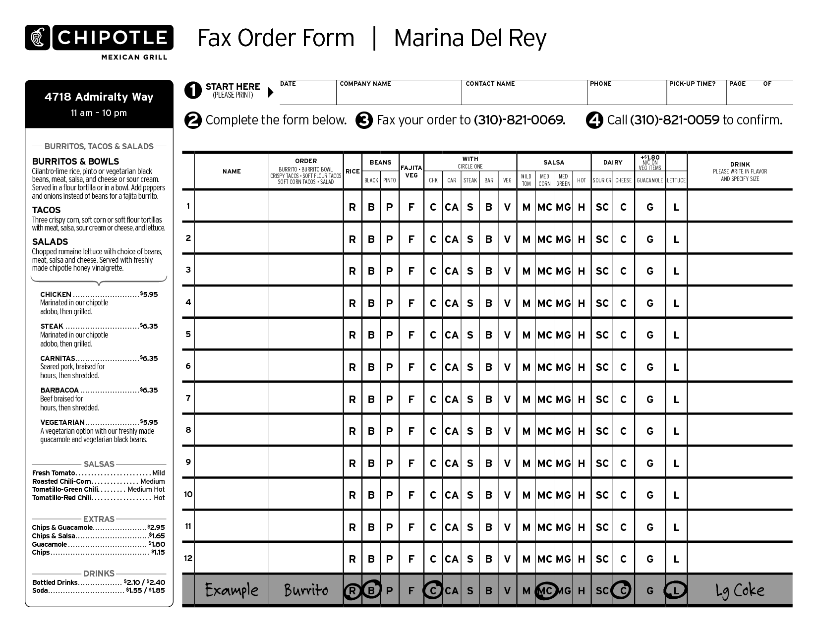 fax forms
