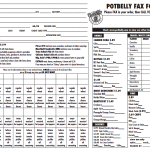 Potbelly Fax Order Form 150x150