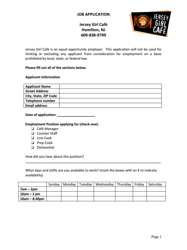 Staff line application jersey girl caf job application form thecheapjerseys Choice Image