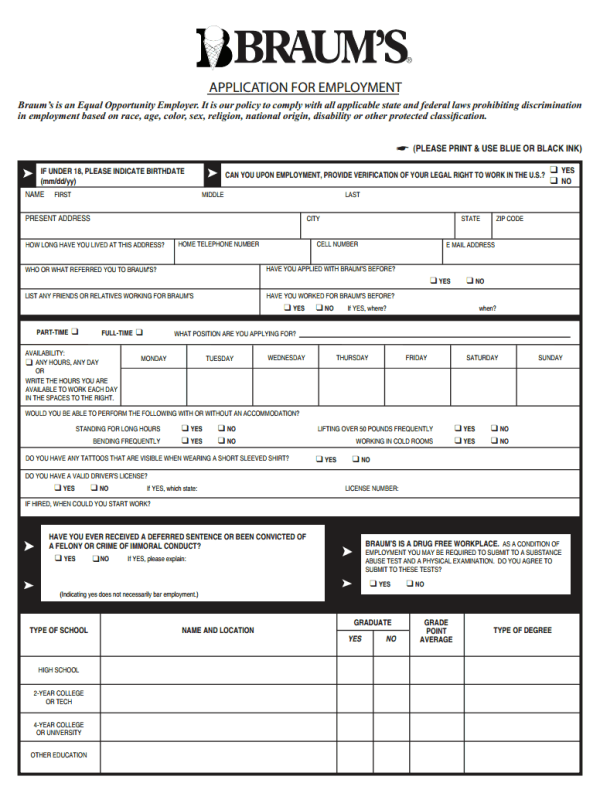 S S Food Stores Application