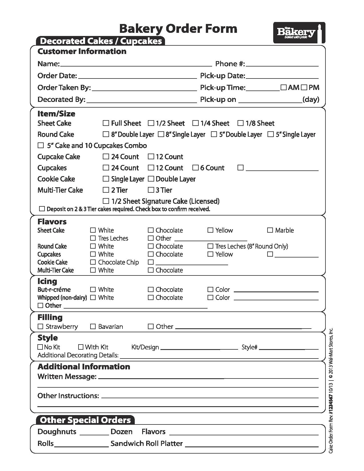 Walmart bakery cake order form free job application form ordering a custom cake from walmart is not difficult and all you need to do is falaconquin
