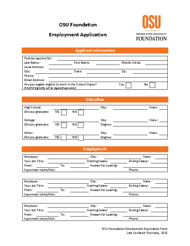 Download OSU Foundation Job Application Form Today! on university offer letter, university staff, university admission form, university statement of purpose, blank student enrollment form, official transcript form, tennessee certificate of immunization form, university activities, immigration form, university college application, order form, university costs, university form access, university facilities, university master plan, university cv, university requirements, university transcripts, university application process, university sweatshirts,