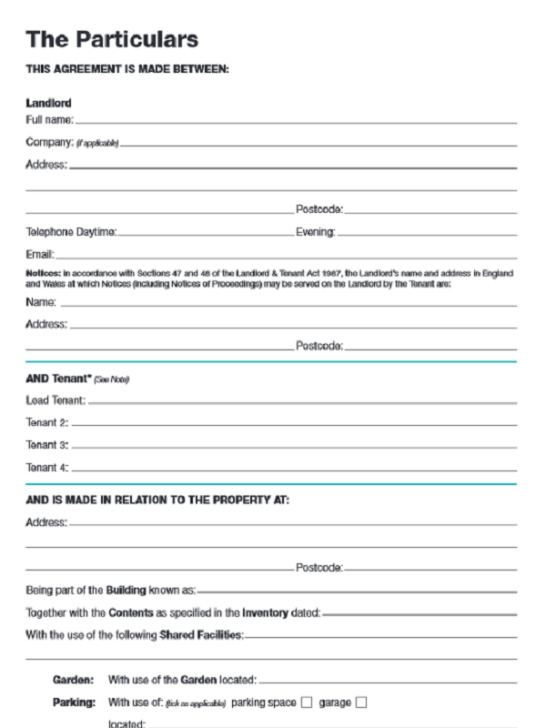 Go online for free tenancy agreement form for Letting agreement template free