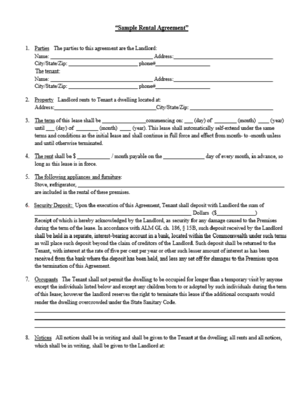 Rental Agreement Form Free Job Application Form – Sample Prenuptial Agreement Template