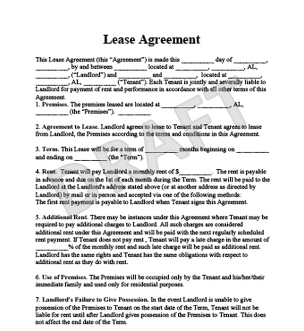 The Advantages You Get By Using A Sample Lease Agreement  Free Job