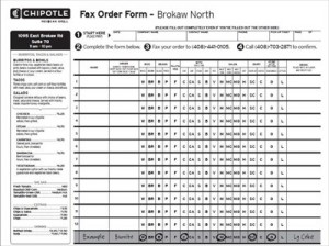 chipotle order form Chipotle Fax Order Form pdf – Free Job Application Form