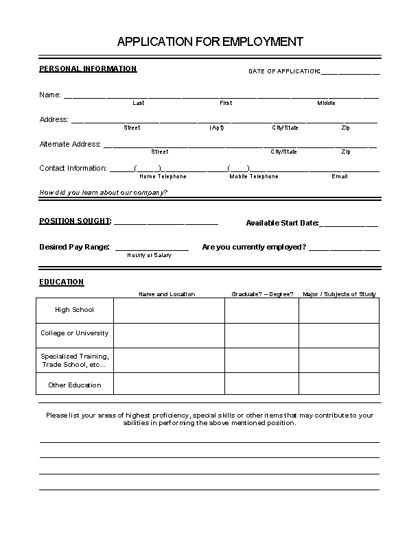 honda motorwerks job application form free job application form